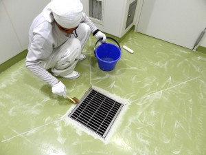 工場や厨房の床塗装の施工も行っております。のイメージ