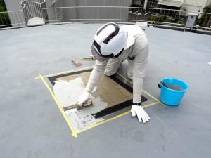 防水工事の作業