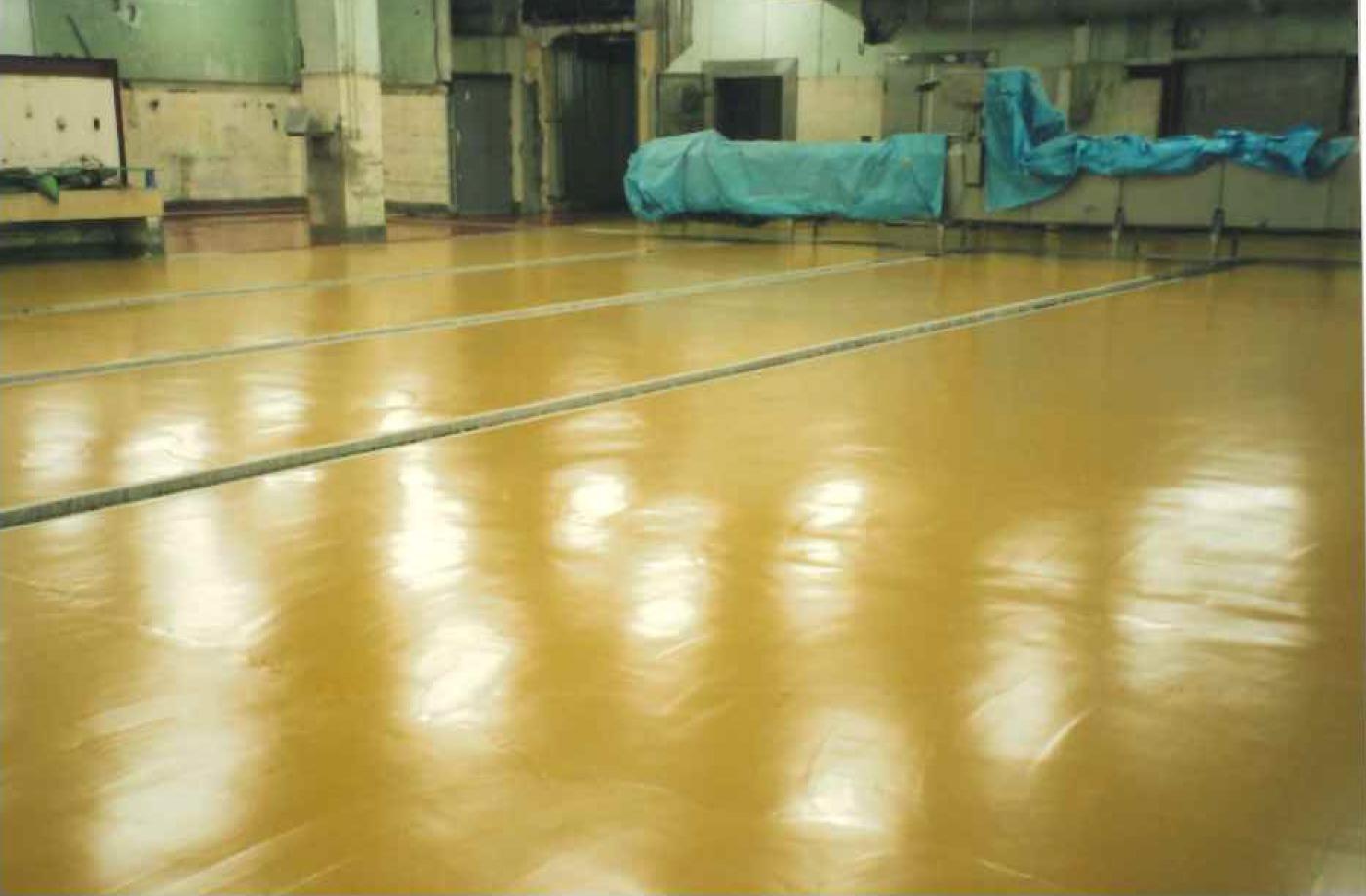 養鶏流通センター 解体室 加工室  水硬性ウレタン塗り床工事_06